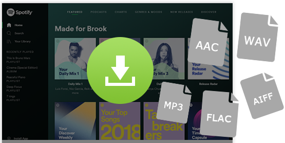 Convert Spotify Music to MP3, AAC, FLAC and WAV