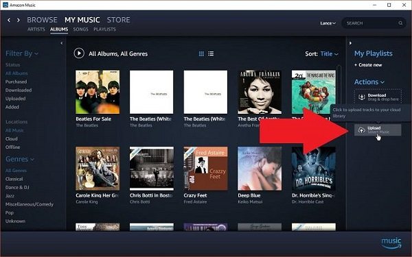 stream apple music to amazon music