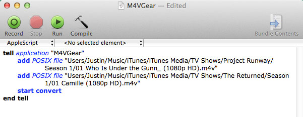 How to use AppleScript to control M4VGear