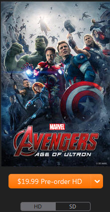 Avengers 2 in iTunes store