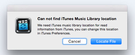 Read iTunes Library Failed