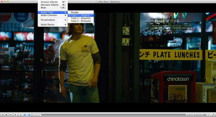 play converted mp4 video on VLC with multiple audio track