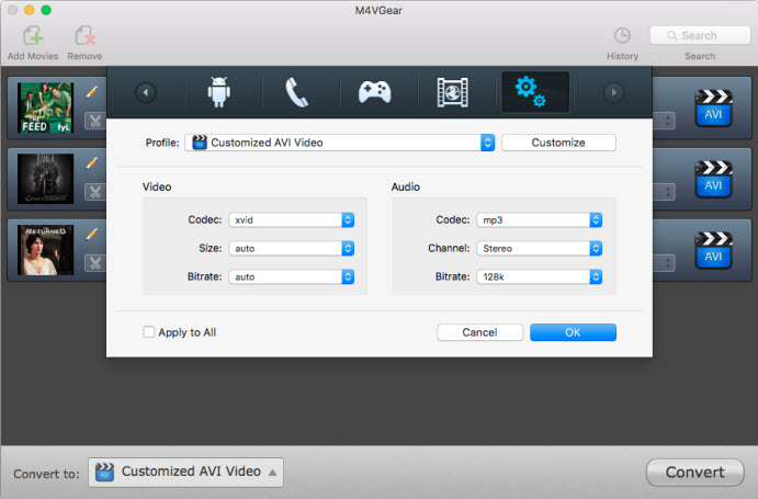 convert m4v to avi mac free