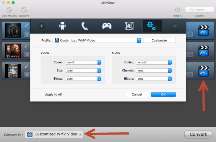 2 Ways to Convert M4V to WMV on Mac Flawlessly | M4VGear