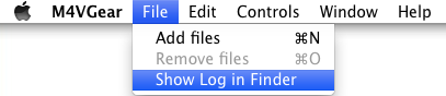 show log in finder