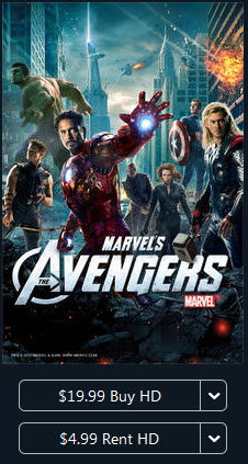 The Avengers in iTunes store