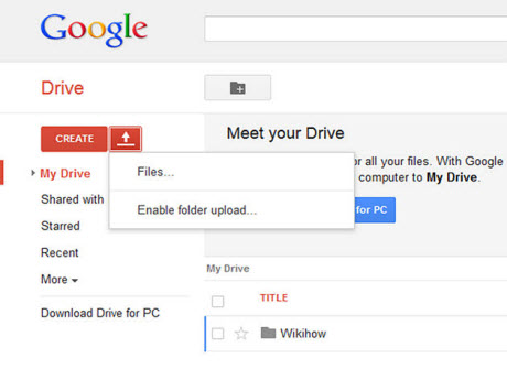 use google drive with browse