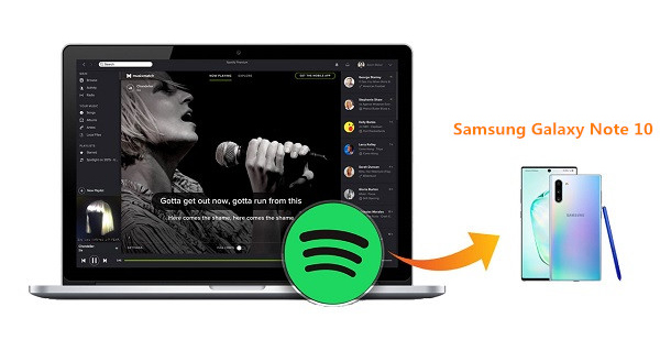 Spotify to Galaxy Note 10