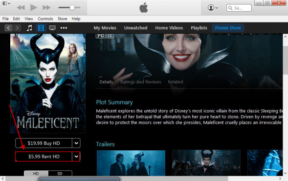 how to download rental movies on apple tv